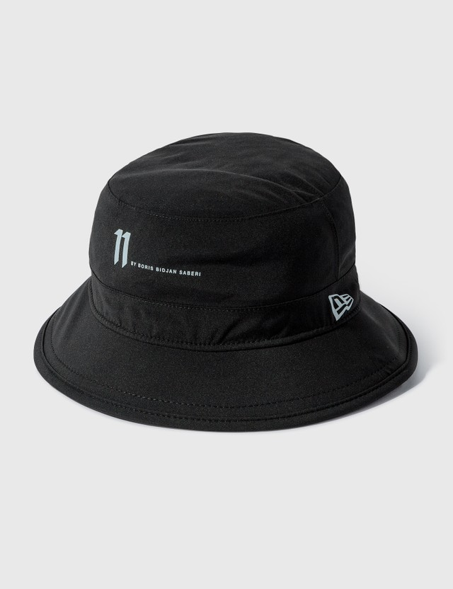 11 By Boris Bidjan Saberi Gore-Tex Logo Bucket Hat Black Men