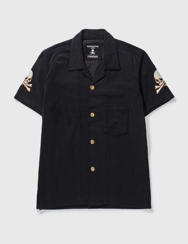 Mastermind Japan Mastermind Japan Skull Embroidery Shirt Black Archives