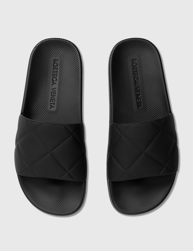 Bottega Veneta Rubber Sliders Black Women