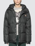 Maison Kitsune Fox Head Patch Down Jacket Picutre