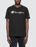 Champion Reverse Weave Script Logo S/S T-Shirt Picture