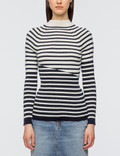 Maison Kitsune Striped Ribbed Pullover Picture