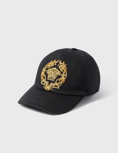베르사체 Versace Medusa Crest Embroidered Cap