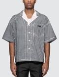 Prada Stencil Stripe Poplin Bowling Shirt Picutre