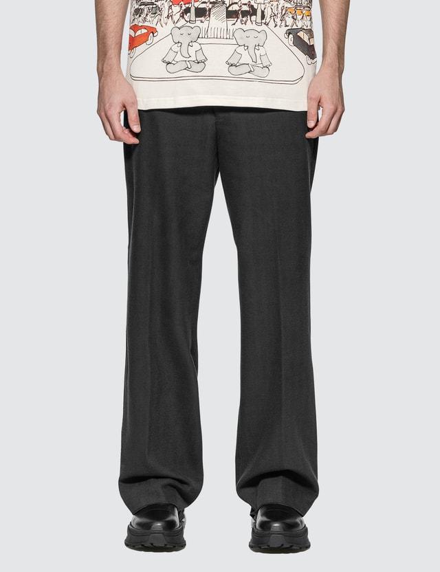 Lanvin Wide-leg Tailored Pants Navy Blue Men