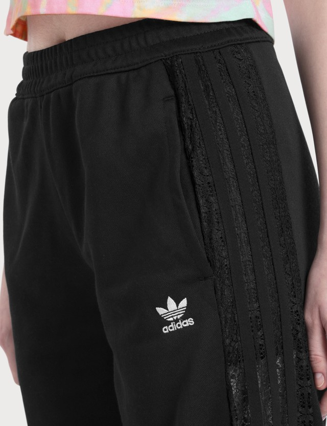 Adidas Originals Wide Leg Lace Pants Black Women