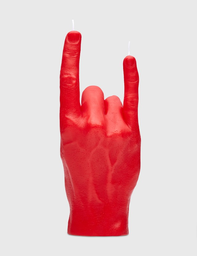 Candle Hand YOU ROCK Candle Red Unisex
