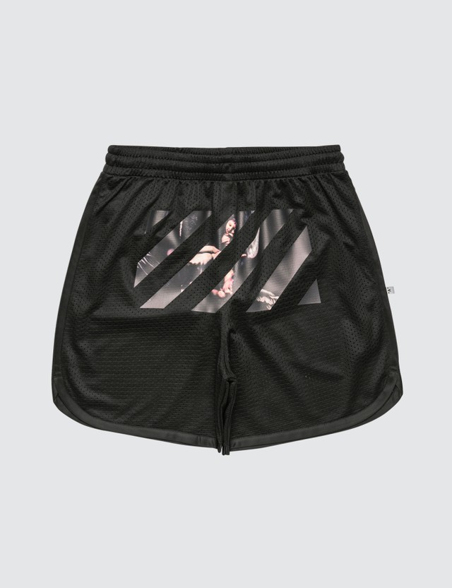 Off-White Caravaggio Arrows Mesh Shorts