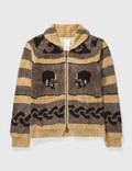 Mastermind Japan Mastermind Japan Skull Rayon Skull Zip up Cardigan Brown Archives