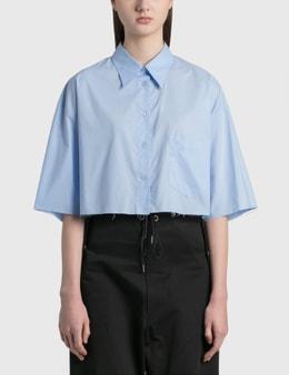 MM6 Maison Margiela Poplin Cotton Cropped Shirt