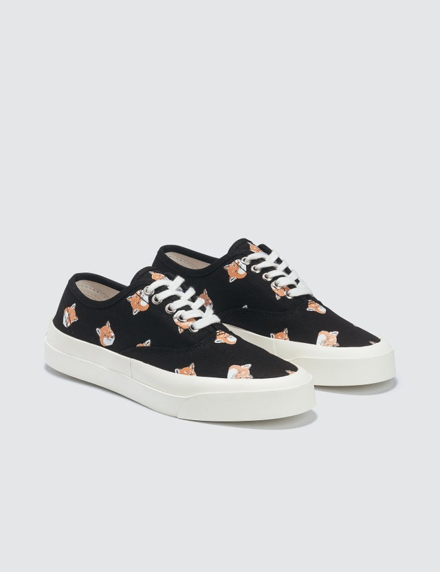 Maison Kitsune All-over Fox Head Laced Sneaker