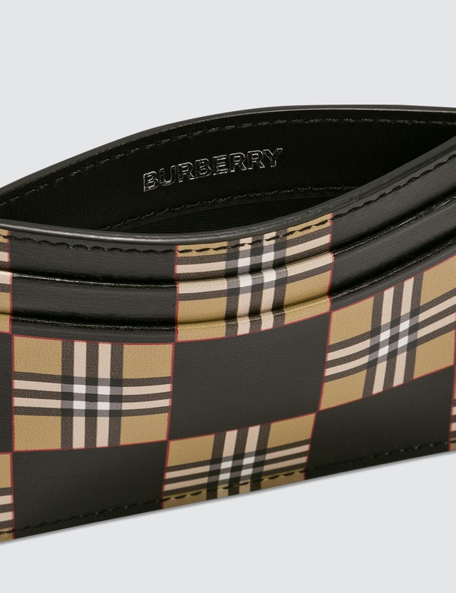 Burberry Chequer Print Leather Card Case