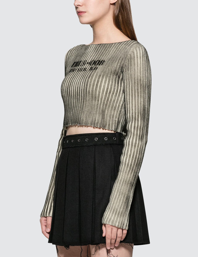 Hyein Seo Boat Neck Crop Top