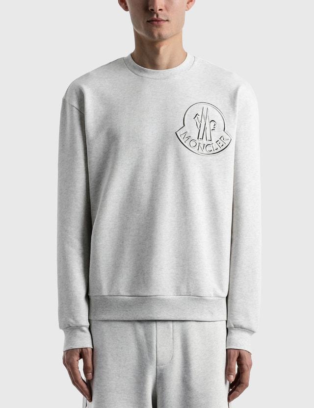 Moncler Logo Sweatshirt Grey Men