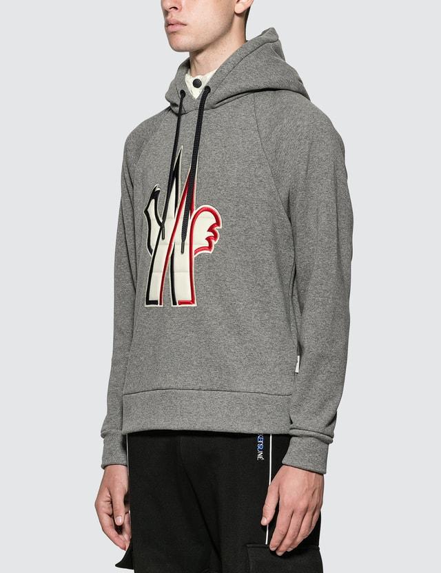 Moncler Grenoble Logo Hoodie Grey Men