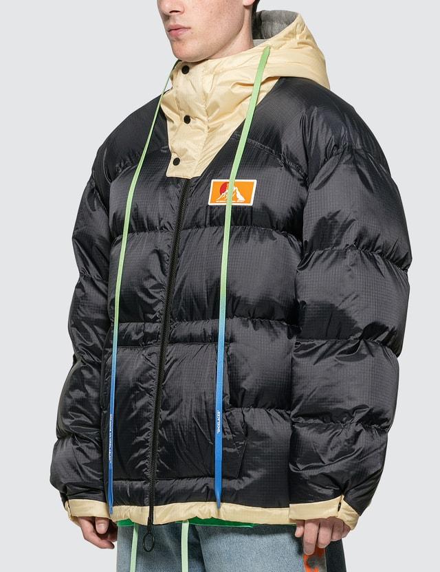 Off-White Scaffolding Zipped Puffer Jacket
