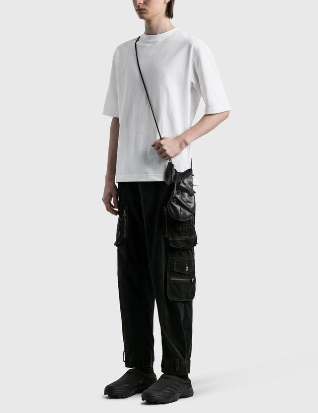 Hyein Seo Leather Pocket Bag Black Men