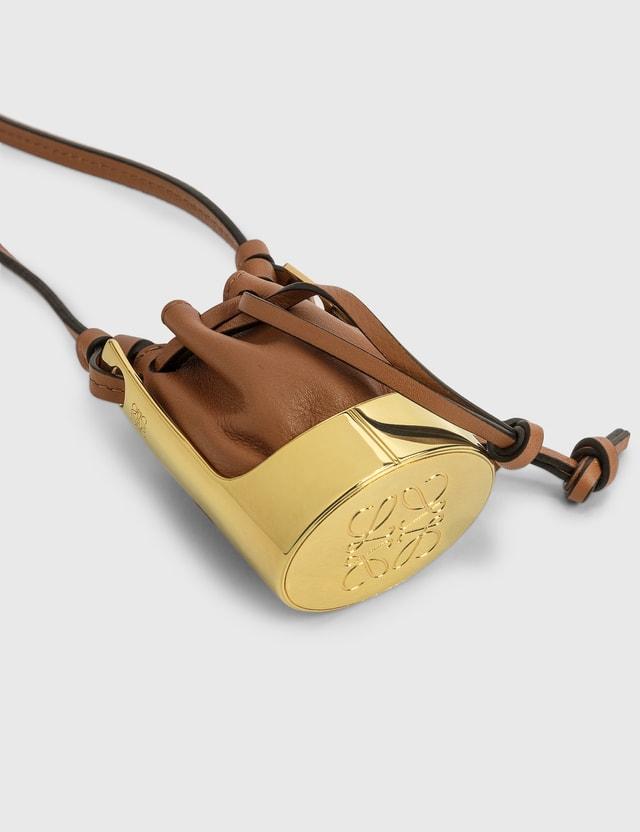 Loewe Balloon Bag Necklace Tan/gold Women