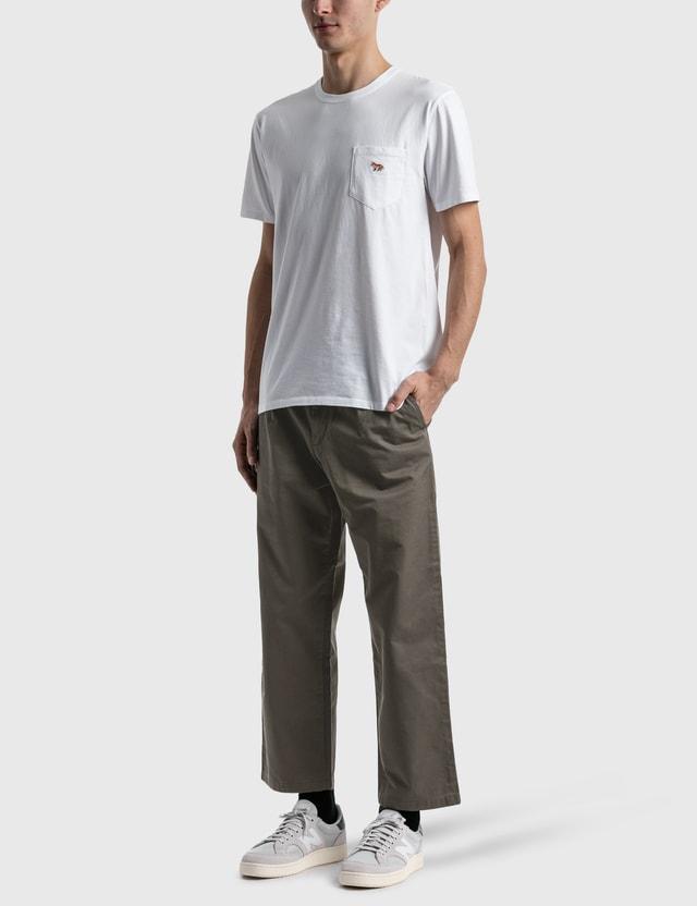 Maison Kitsune Profile Fox Patch Pocket T-shirt White Men