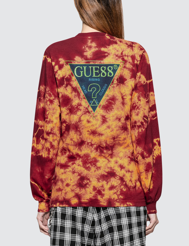 88Rising x Guess 88 Rising Tie Dye Graphic Long Sleeve T-Shirt