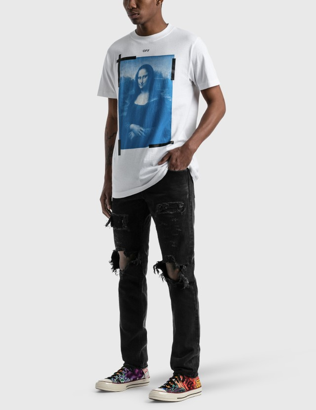Off-White Mona Lisa Graphic Slim T-shirt White Men