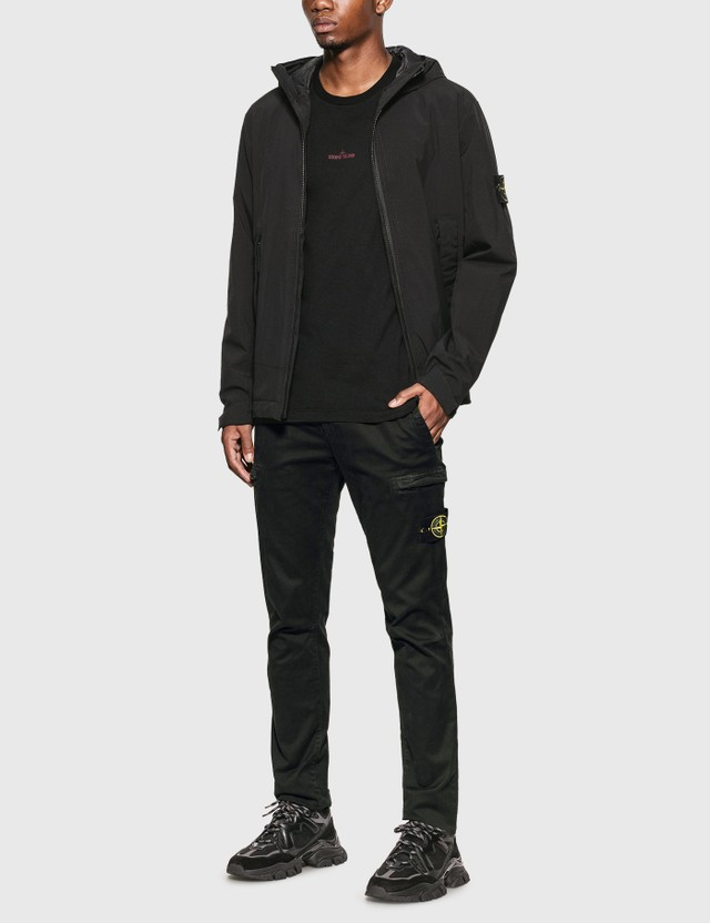Stone Island Lightweight Hooded Jacket Nero Men