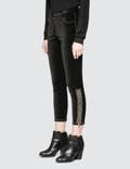 SJYP Beads Detail Velvet Pants Black Women
