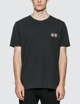 Maison Kitsune Double Fox Head Patch T-Shirt