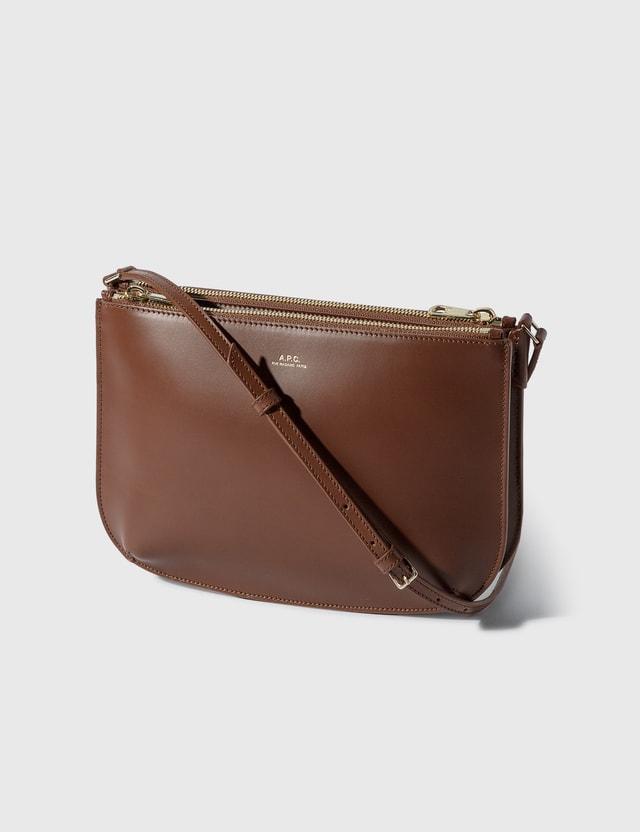 A.P.C. Sarah Crossbody Bag Cad Hazelnut Women
