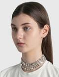 Area Baguette Crystal Choker Clear / Silver Women