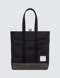 Thom Browne Unstructured Tote In Nylon Tech W/ Jersey Backing + Suede Picture
