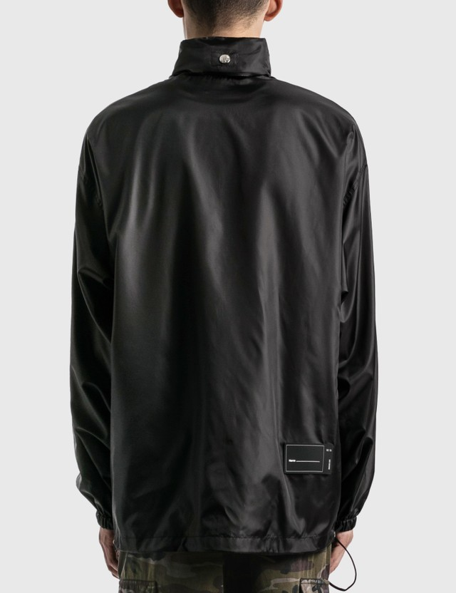 We11done Polyester Black Windbreaker Jacket Black Men