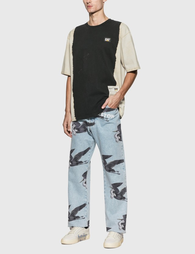 Heron Preston Print Jeans Vintage Blue Men