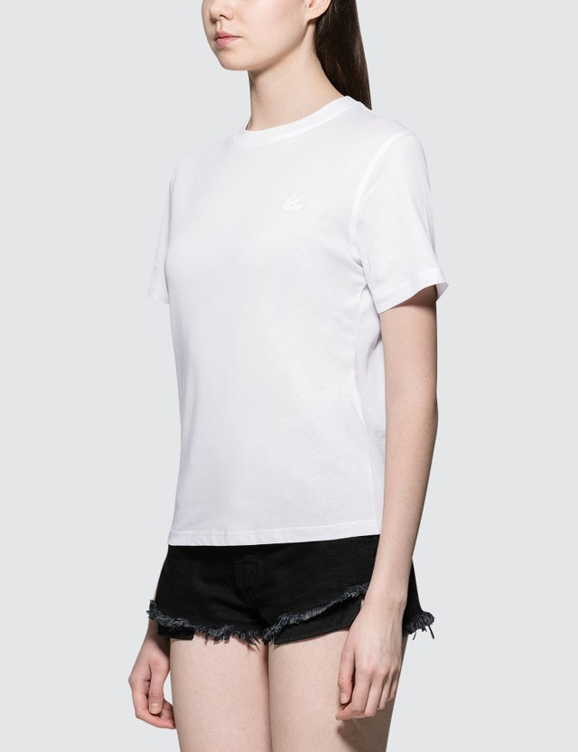 McQ Alexander McQueen Band Short Sleeve T-shirt White Women