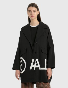 MM6 Maison Margiela Oversized Reversed Logo Coat