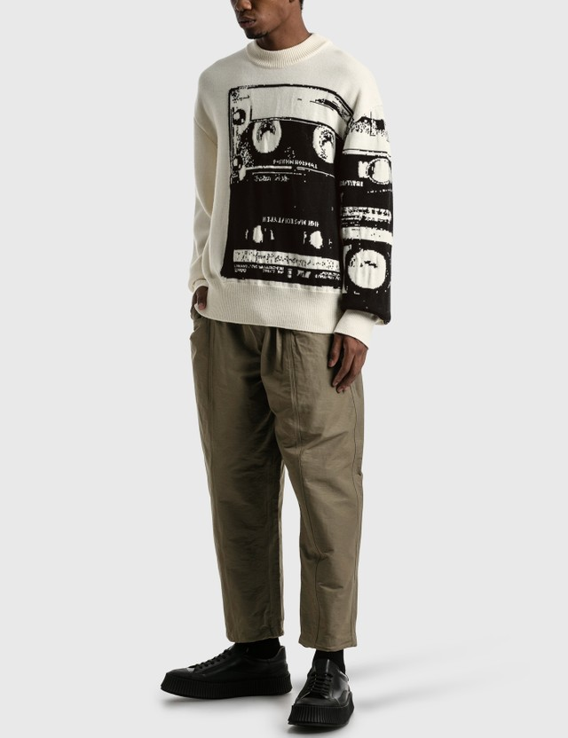OAMC Cassette Crewneck Sweater White Men