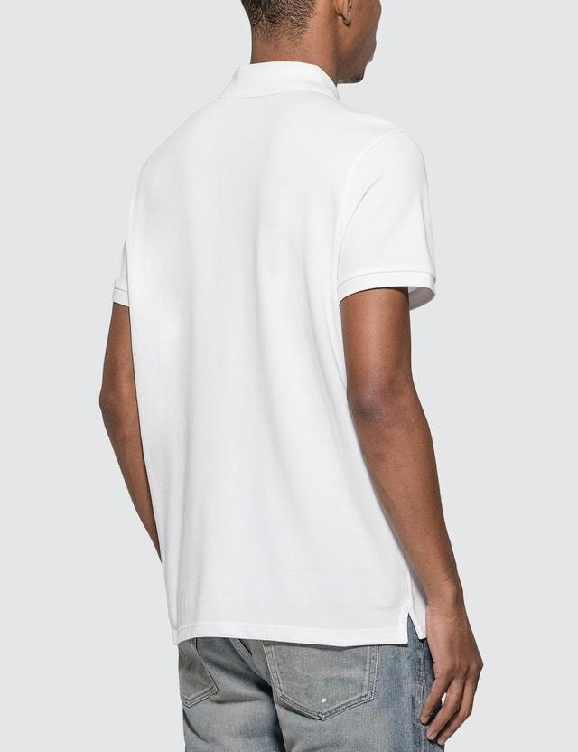 Moncler Big Logo Polo Shirt White Men