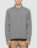 Denim By Vanquish & Fragment Icon Gingham Check Coaches Shirt Picture