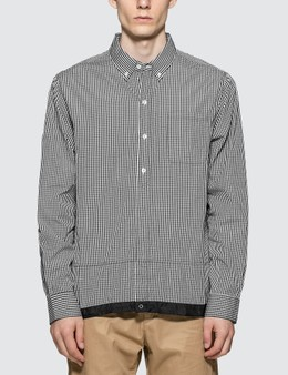 Denim By Vanquish & Fragment Icon Gingham Check Coaches Shirt
