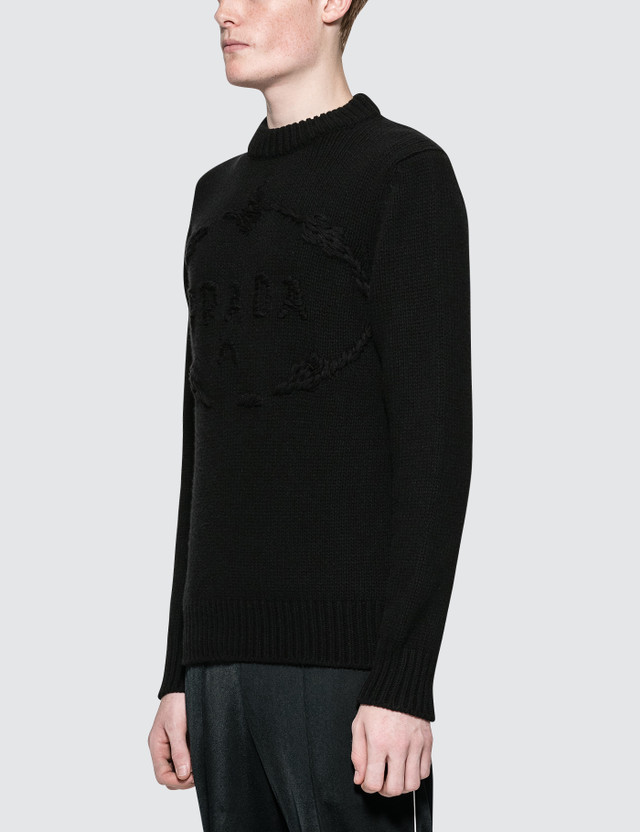 Prada Logo Chunky Knitwear