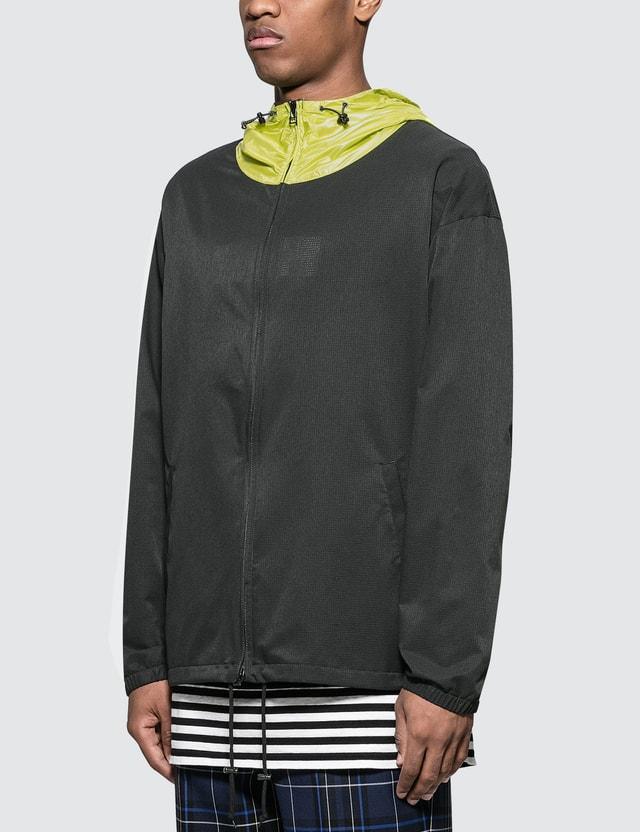 SOPHNET. Side Zip Color Block Zip Up Hoodie