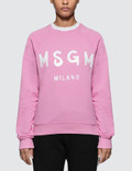 MSGM Brush Strokes Msgm Logo Sweatshirt Picture