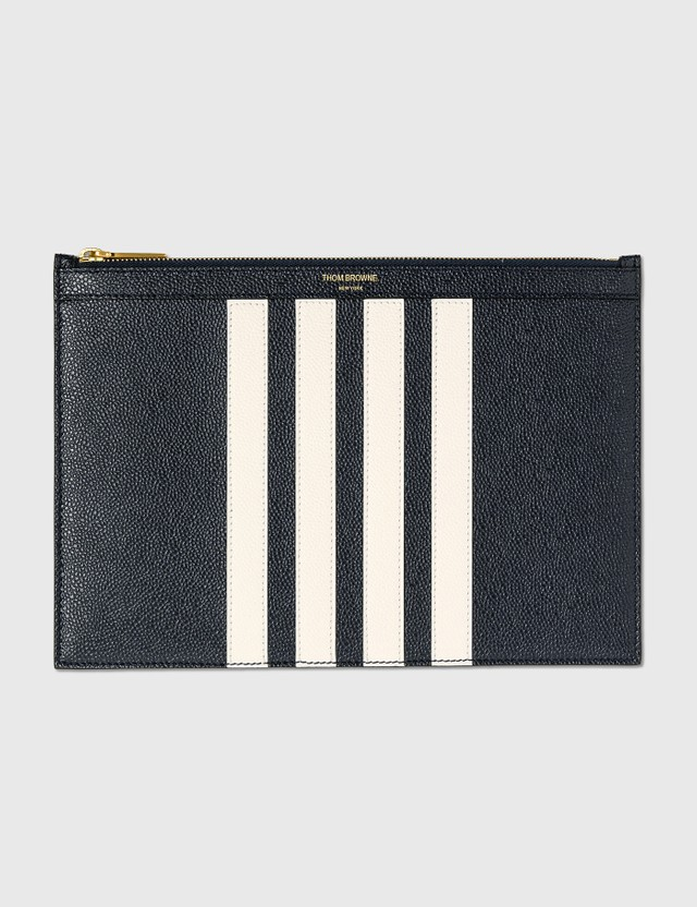 Thom Browne Small Document Holder Navy Men