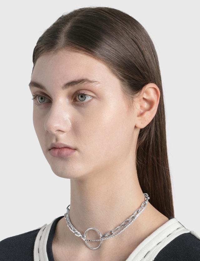 Justine Clenquet Lina Choker Silver Women