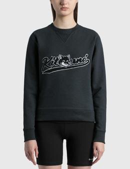 Maison Kitsune Varsity Fox Regular Sweatshirt