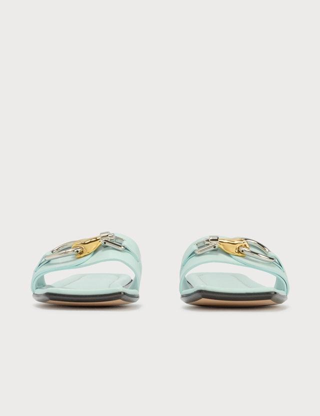 Lanvin Flat Jeweled Sandal