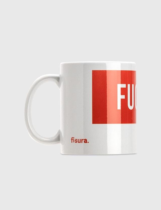 "Fisura ""Fuck Off"" Mug – White/Red N/a Life"