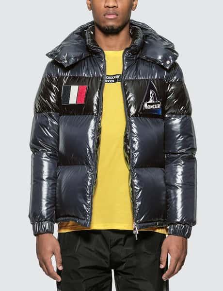 몽클레어 Moncler Nylon Down Jacket with Patch Detail
