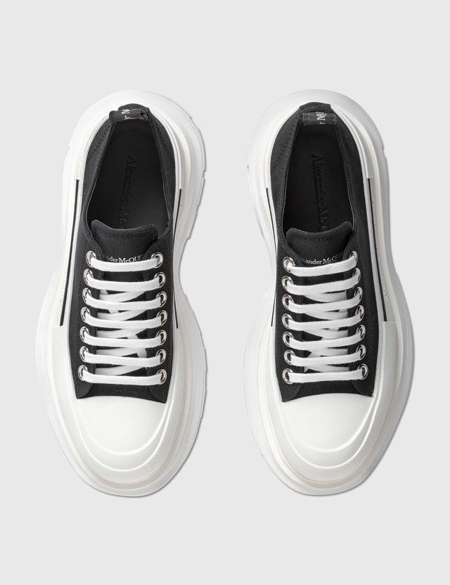 Alexander McQueen Tread Slick Lace Up Sneaker Black/whi/black Women