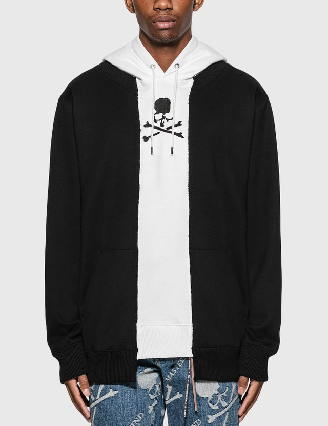Mastermind World Patchwork Hoodie Black X White Men